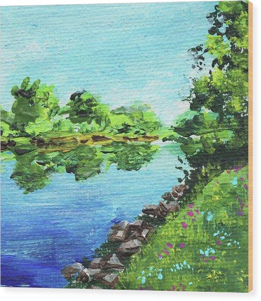Impressionistic Landscape Xix Wood Print