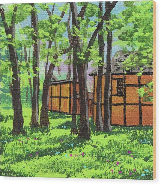 Impressionistic Landscape Xviii Wood Print