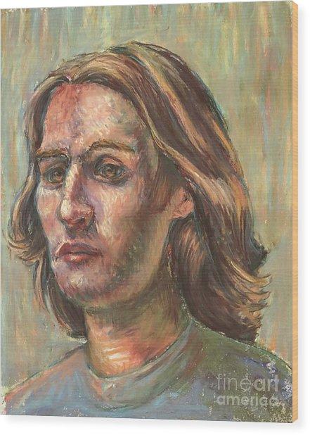 Impressionistic Portrait Wood Print