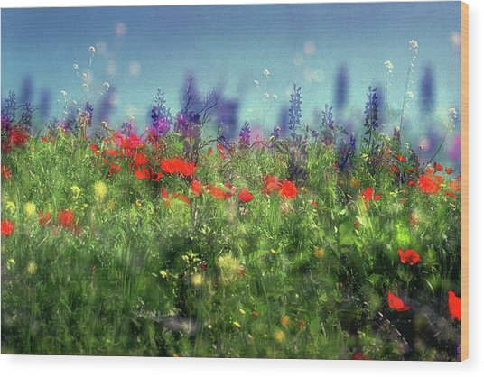 Impressionistic Springtime Wood Print