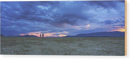 Impromptu Meeting In The Desert Wood Print