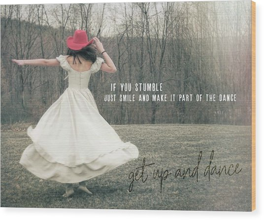 Improvise Quote Wood Print by JAMART Photography