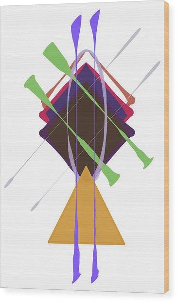Improvised Geometry #3 Wood Print