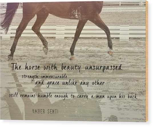 Impulsion Mirrored Quote Wood Print by JAMART Photography