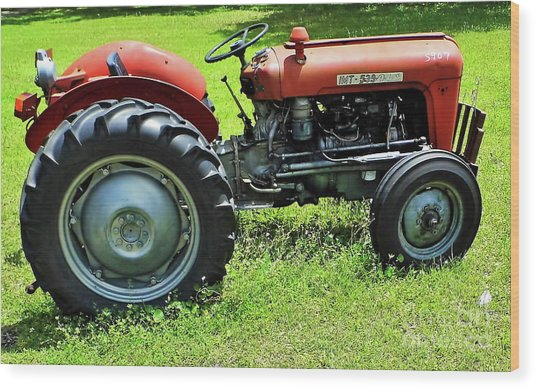 Imt 539 Tractor Wood Print