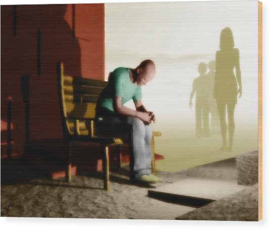 In A Fog Of Isolation Wood Print