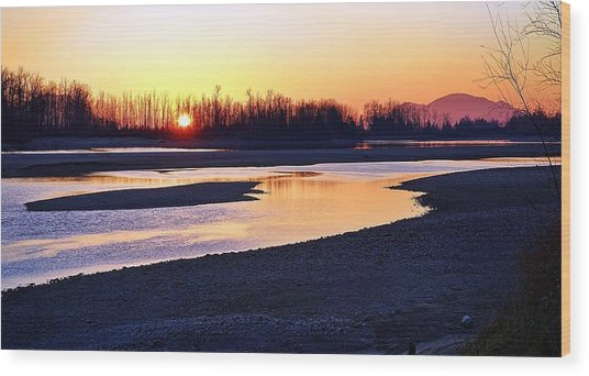 The Fraser River Wood Print