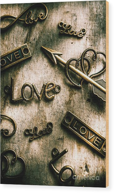 In Contrast Of Love And Light Wood Print