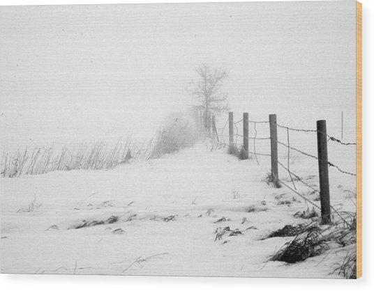 In Defense Of Snow Wood Print by Julie Lueders