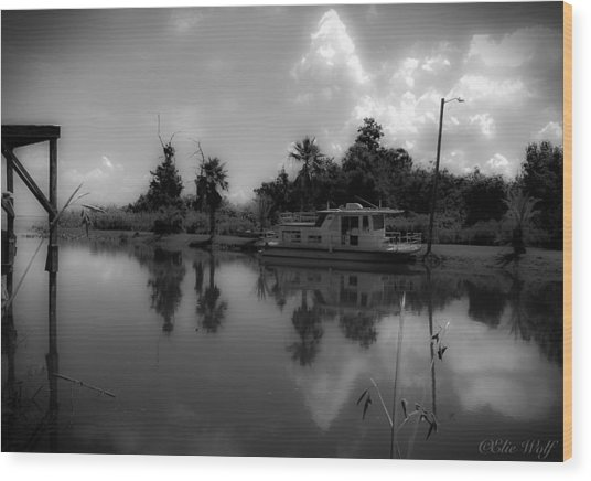 In Florida, A Boat Wood Print