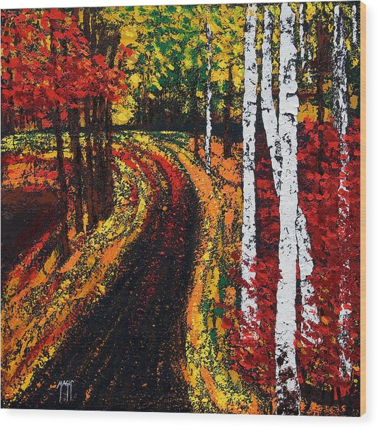 In Full Swing  Wood Print