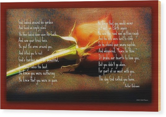 In God's Garden Wood Print