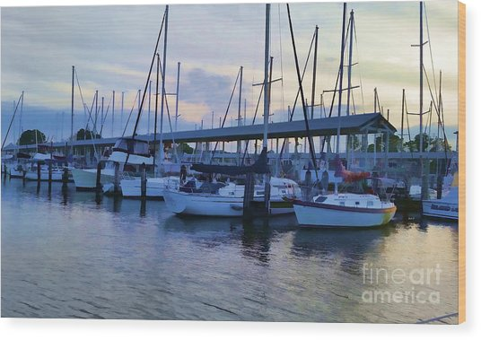 In My Dreams Sailboats Wood Print