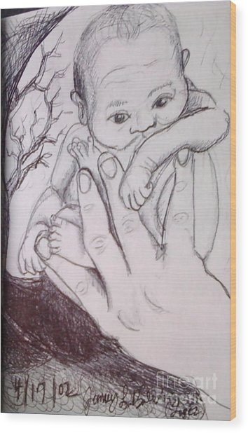 In My Father's Hand Wood Print by Jamey Balester