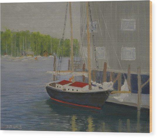 In Port Wood Print