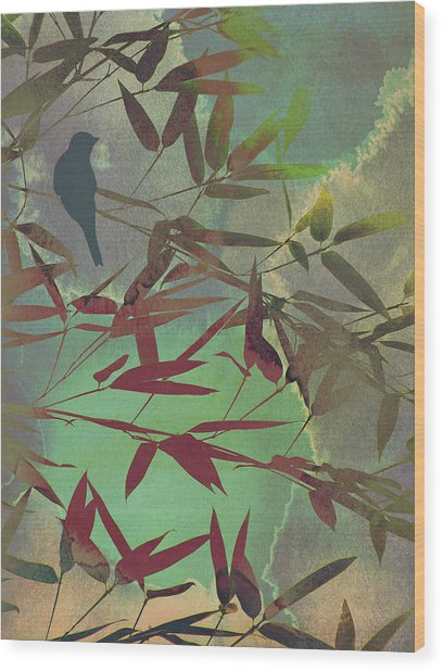 In The Bamboo Forest Wood Print