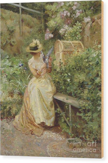 In The Garden, 1892 Wood Print