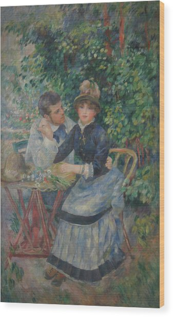 In The Garden  Wood Print by Pierre Auguste Renoir