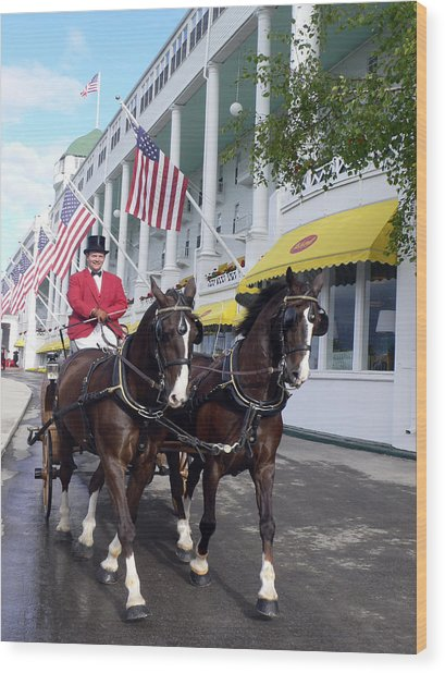 In The Grand Mackinac Manner Wood Print by Charles  Ridgway