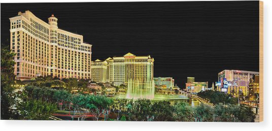 In The Heart Of Vegas Wood Print