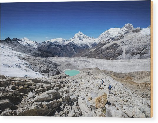 In The Middle Of The Cordillera Blanca Wood Print