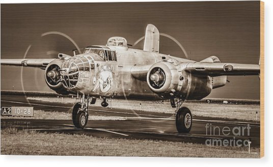 In The Mood - B-25 II Wood Print