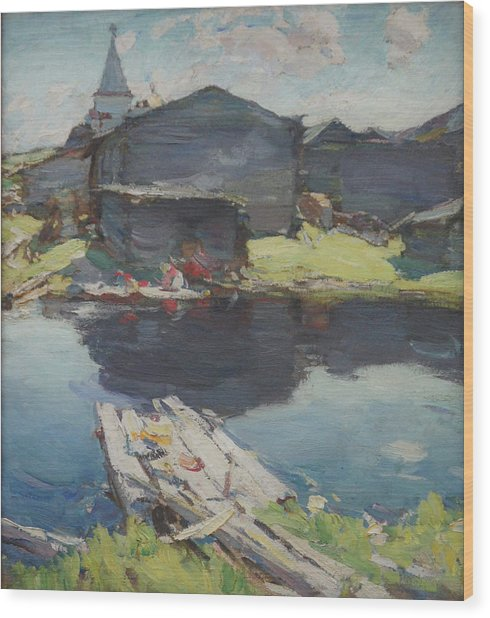 In The North Wood Print by Abram Arkhipov