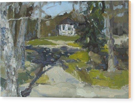 In The Park Wood Print by Assol Agaidarova