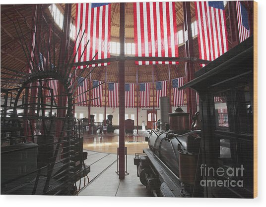 In The Roundhouse At The B And O Railroad Museum In Baltimore Wood Print