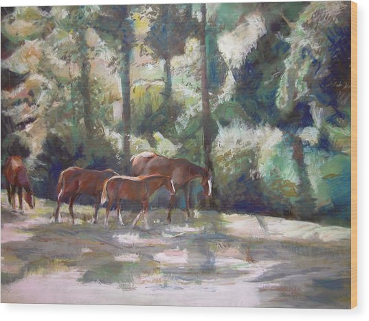 In The Shade Wood Print