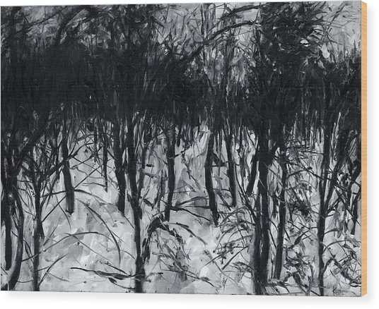 In The Woods 7 Wood Print