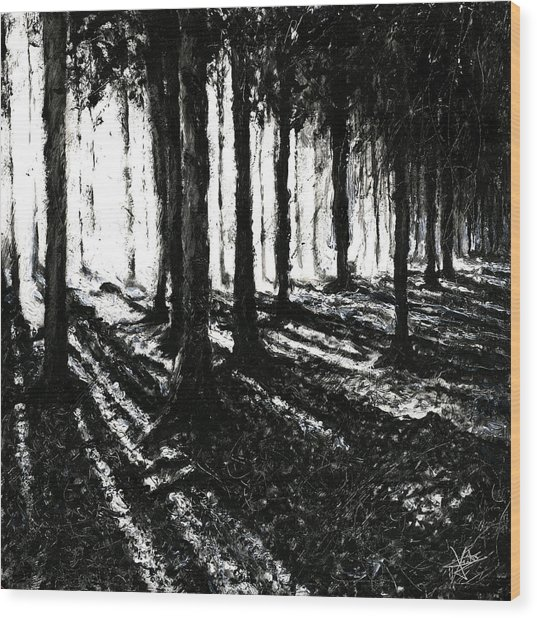 In The Woods 3 Wood Print