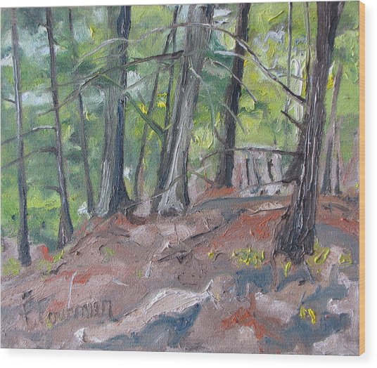 In The Woods No2 Wood Print by Francois Fournier