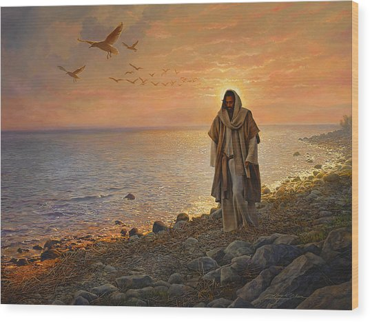 Wood Print featuring the painting In The World Not Of The World by Greg Olsen