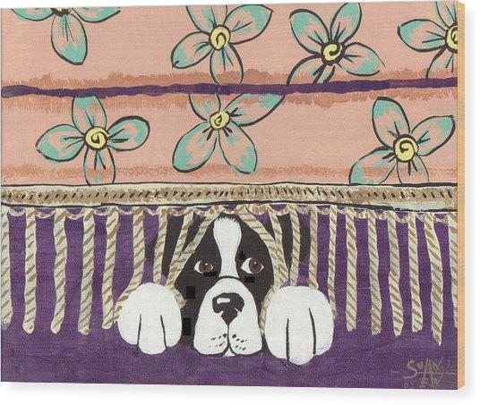 In Trouble Wood Print by Sue Ann Thornton