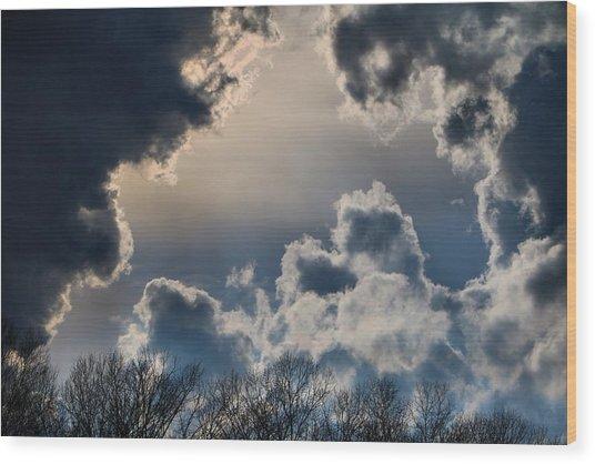 Incredible Clouds Wood Print