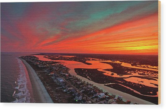 Incredible Point Sunset Wood Print by Robbie Bischoff