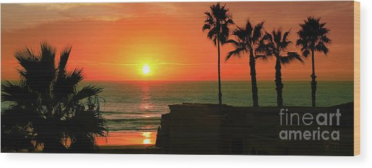 Incredible Sunset View Wood Print
