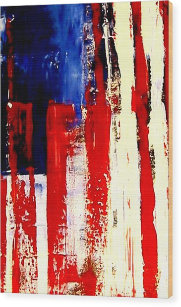 Independence Day Wood Print by Charles Jos Biviano