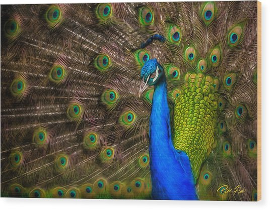 Wood Print featuring the photograph India Blue by Rikk Flohr