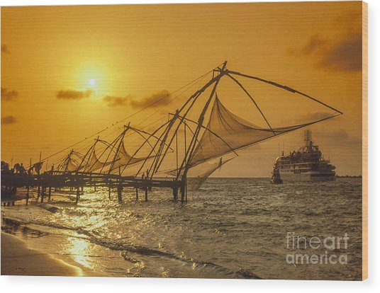 Wood Print featuring the photograph India Cochin by Juergen Held