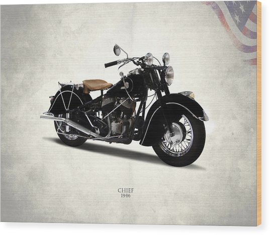 Indian Chief 1946 Wood Print