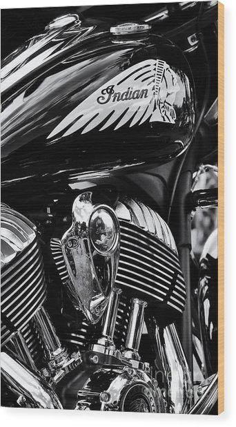 Indian Chieftain Wood Print