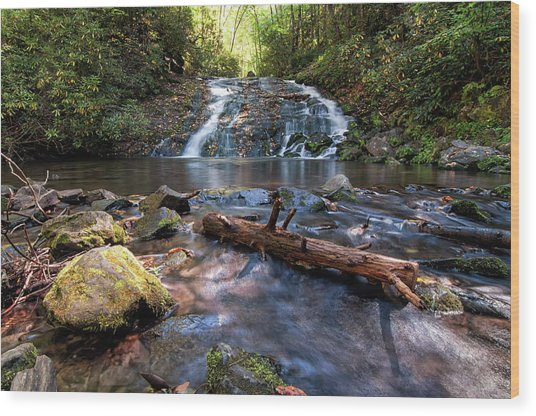 Indian Creek Falls Wood Print