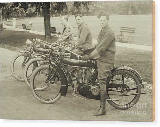 Indian Motorcycle Relay Team 1918 Wood Print