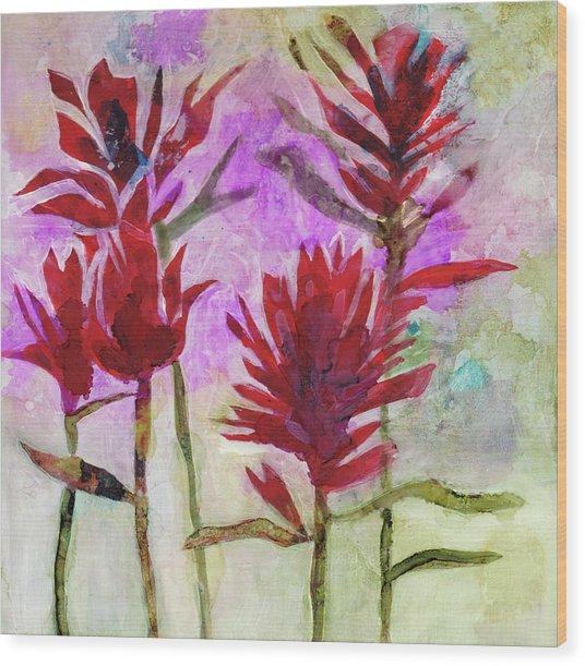 Indian Paintbrush Wood Print