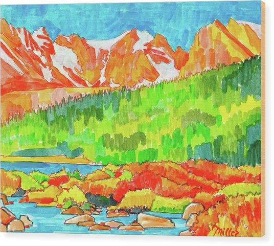 Indian Peaks Wilderness Wood Print