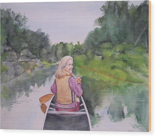 Indian River Wood Print