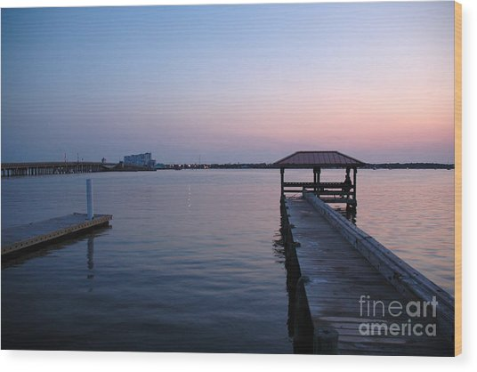 Indian River Sunset Wood Print