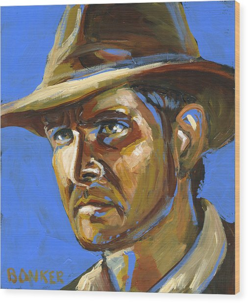 Indiana Jones Wood Print by Buffalo Bonker